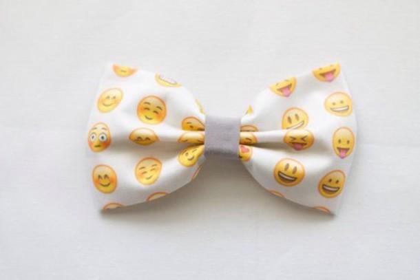 X Bow Emoji Hair accessory: emoji ...