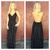 Black Low Back Embroider Maxi Dress                           | Dainty Hooligan Boutique
