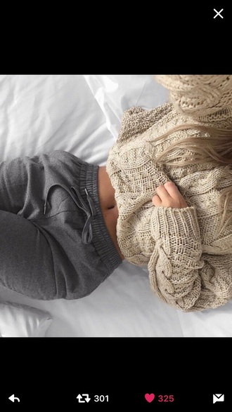 pants grey grey sweatpants grey pants tie front grey pants cropped pants high waisted pants track pants wide-leg pants sweater printed sweater wool sweater warm sweater fuzzy sweater tumblr sweater mustard sweater