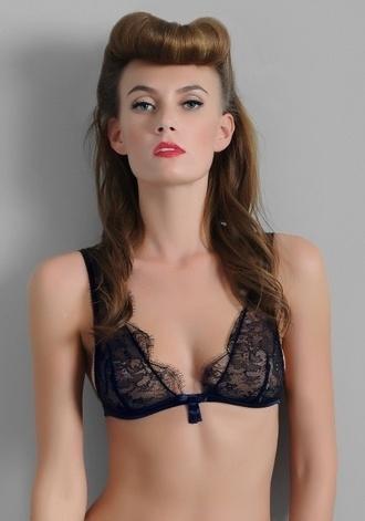 underwear lace vintage sexy lingrie bra bralette navy black black milk