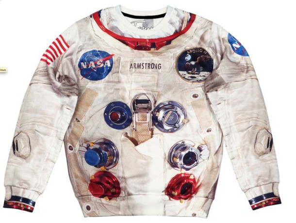 sweater unisex science printed sweater print sweatshirt pullover space space suit exclusive all over print