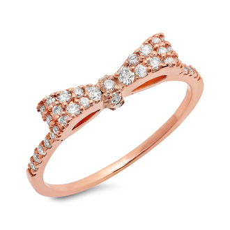 jewels rose gold ring diamond ring diamonds fashion fashion ring bow tie ring