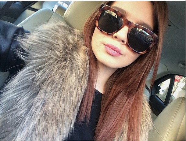 jacket jacket with fur fur leather jacket sunglasses