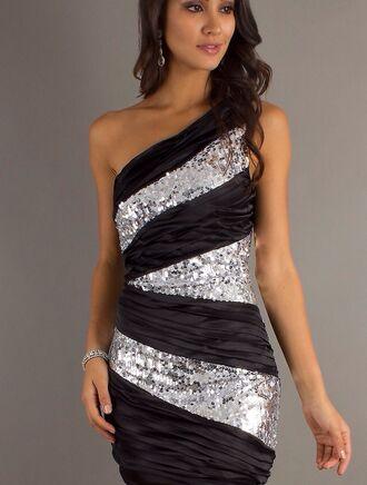 dress black silver semi sequin dress style semi formal dress