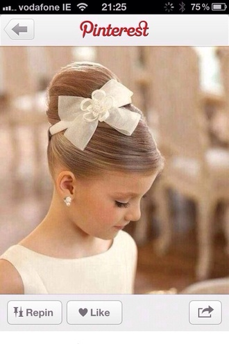 hat hair band bow white