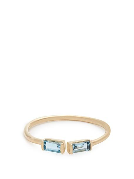 Loren Stewart ring gold ring gold yellow blue jewels