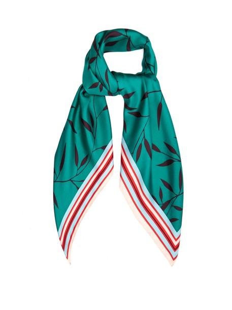 Diane Von Furstenberg scarf silk scarf print silk green