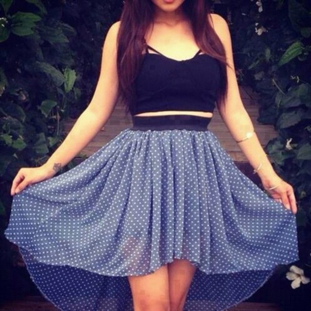 dress summer dress black blue cute