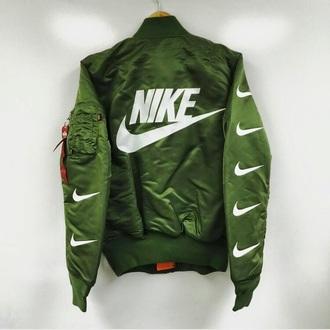 jacket bomber jacket nike bomber jacket kaki military style