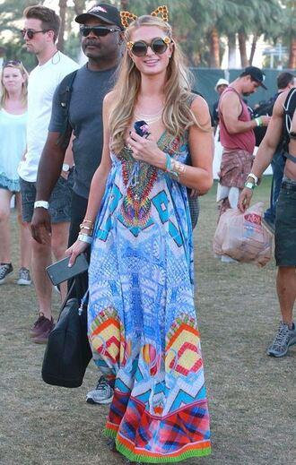 dress maxi dress coachella paris hilton festival