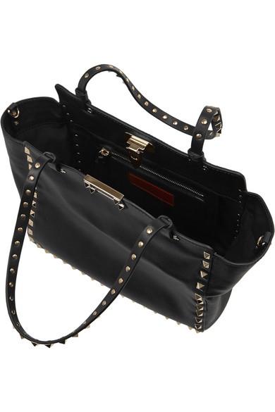Valentino | The Rockstud small leather trapeze bag | NET-A-PORTER.COM