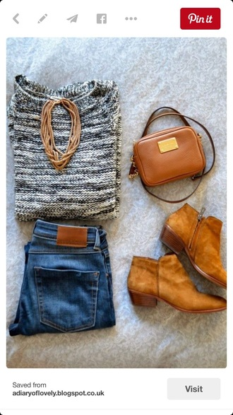 sweater grey sweater knitted sweater cozy sweater fall outfits winter outfits