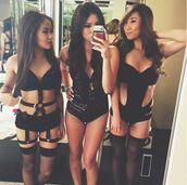 top,lingerie,bodysuit,rave