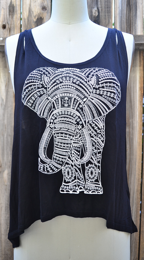 Tank Top Elephant Black