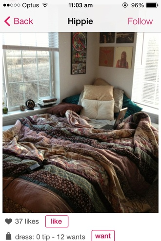 t-shirt duvet bohemian quilt pattern hippie bedding bedroom