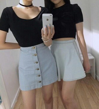 skirt blue