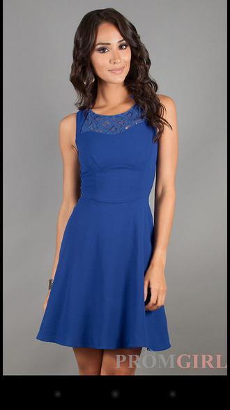 dress blue blue dress skaterdress