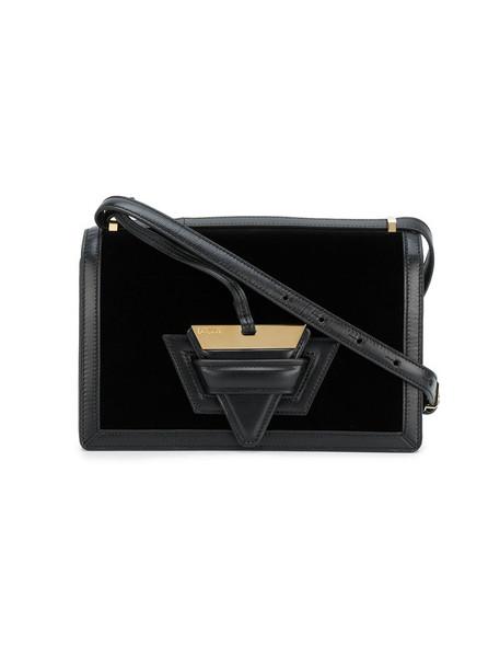 LOEWE women bag leather black velvet