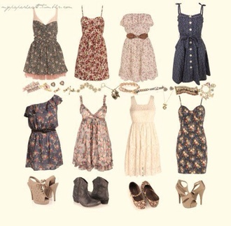 floral dress patterned dress summer dress pretty date outfit