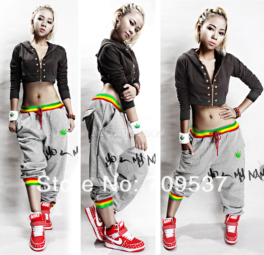 Hot Women Men Hip Hop Dance Harem Baggy Sport Sweat Pants Trousers Slacks Casual[240214]-in Pants & Capris from Apparel & Accessories on Aliexpress.com