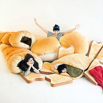 home accessory toast comfy sleeping bag funny food bean bag