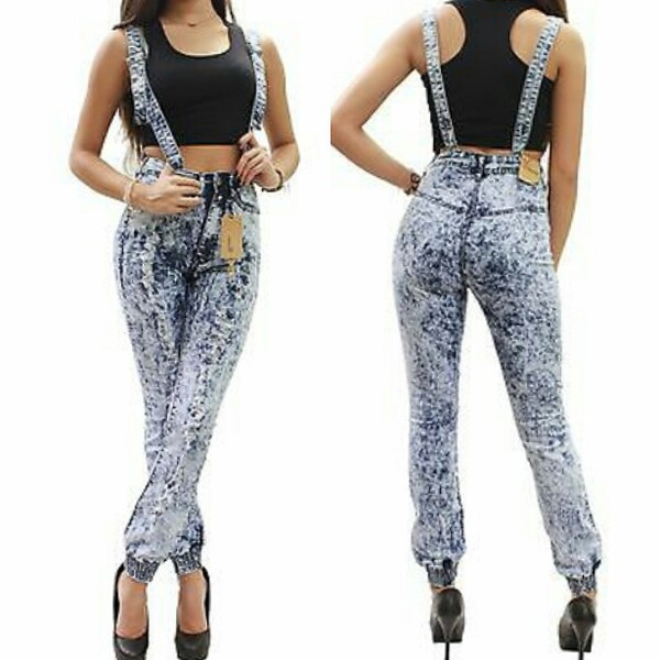 jeans high waisted denim skinny pants joggers joggers acid wash acid waist denim pants overalls jumpsuit