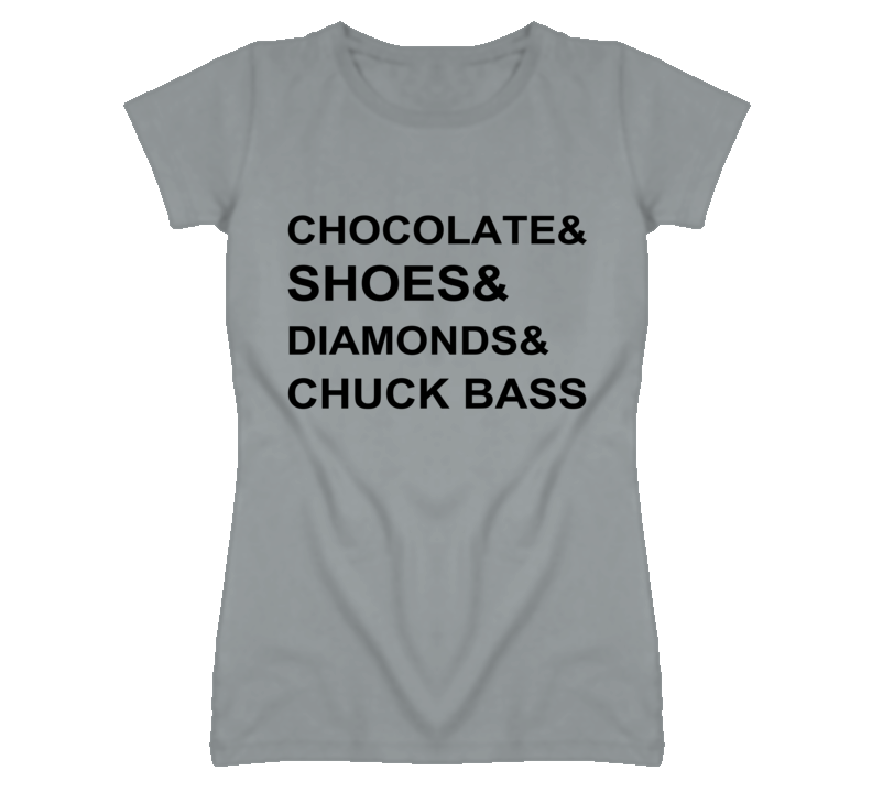 Chocolate shoes diamonds and chuck bass gossip girl graphic t shirt