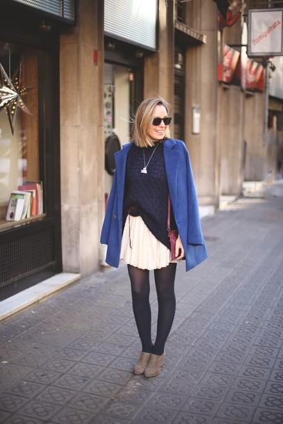 my showroom coat sweater skirt shoes jewels sunglasses bag belt