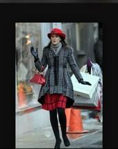 coat,gossip girl,blair,bag,gloves,leggings