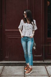 the material girl,blogger,top,shoes,jeans,bag,sunglasses,jewels