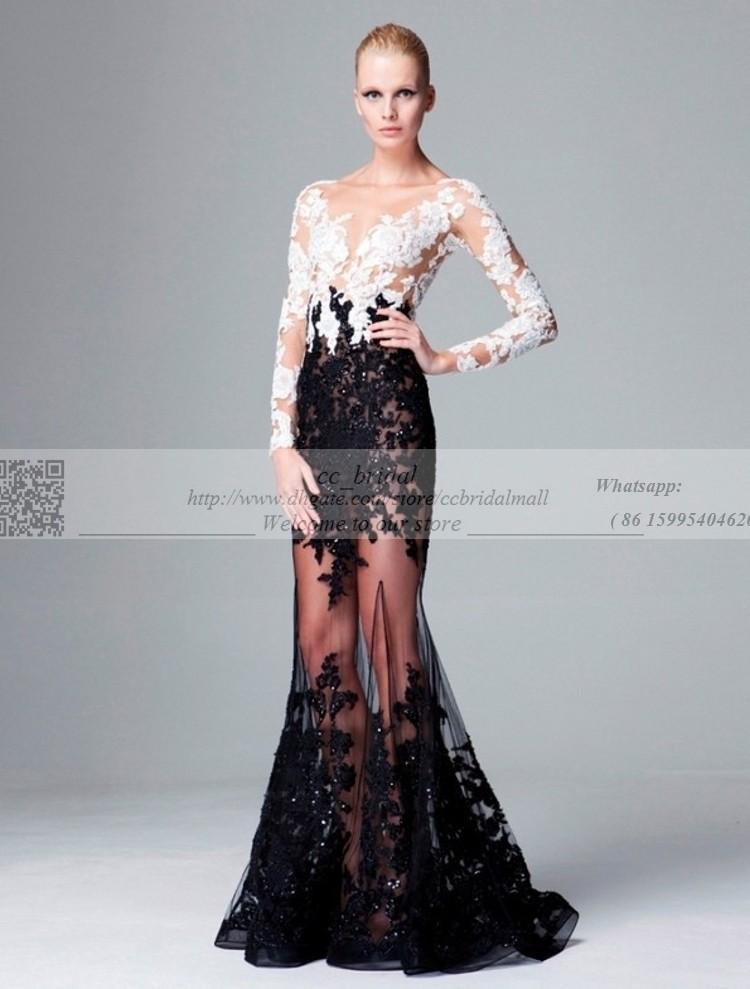 Dress Shop Appliques Tulle Lace Zuhair Murad Evening Dresses With ...