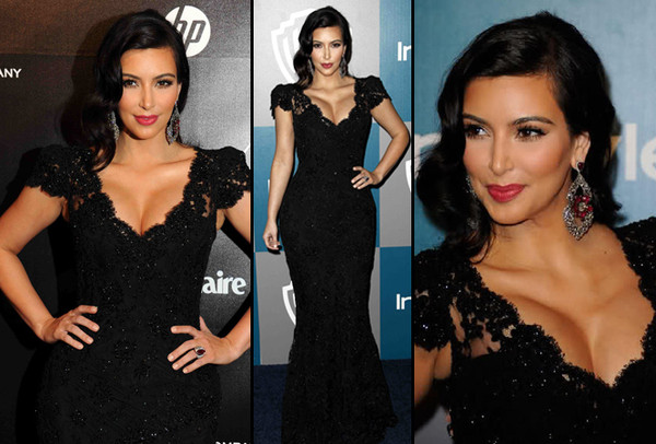 dress black dress gown black kim kardashian lace dress black lace dress