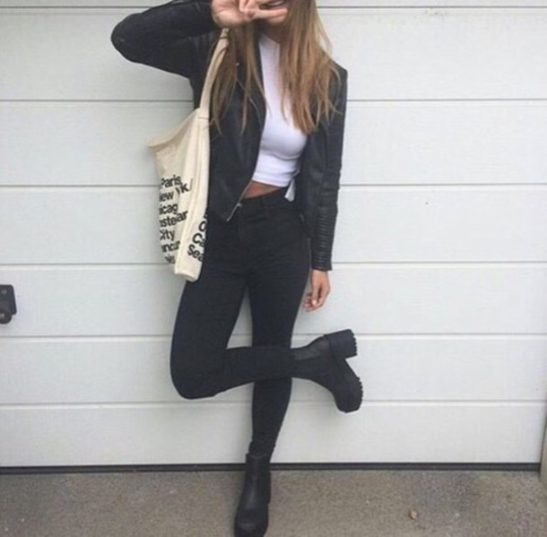 Shoes top cute outfit fall outfits fall outfits urban boho grunge tumblr white ...