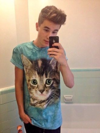 t-shirt kian lawley bae kitty shirt cats mens t-shirt