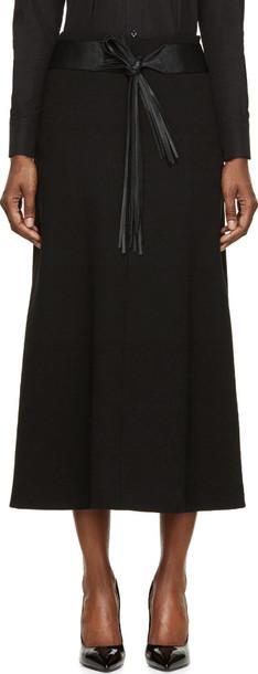 Saint Laurent skirt black wool