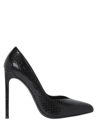 paris pumps leather black shoes