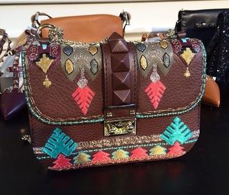 bag turquoise satchel bag native american