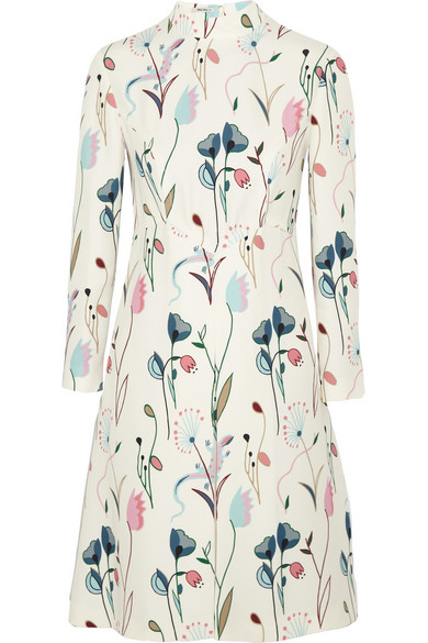 Miu Miu | Printed crepe dress | NET-A-PORTER.COM