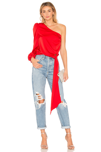 Lovers + Friends blouse red top