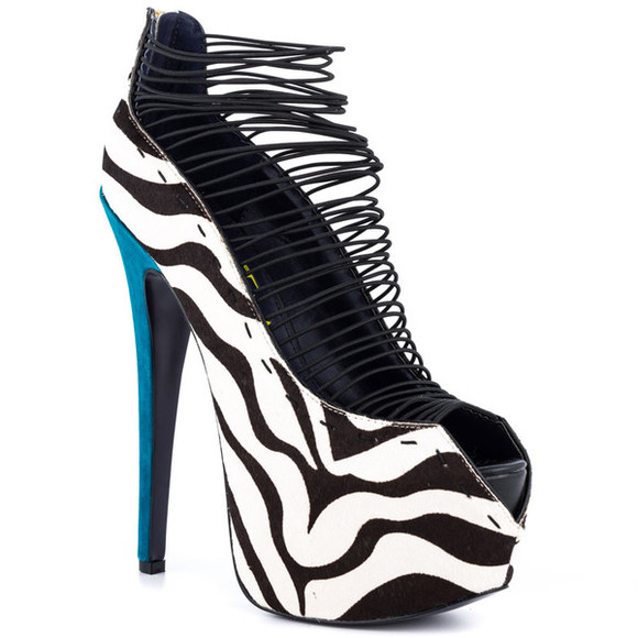 zebra print shoes high heels style