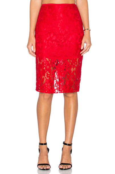 De Lacy skirt red