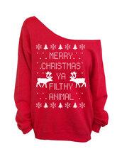 sweater,dentz design,ya filthy animal,merry christmas,christmas sweater,merry christmas ya filthy animal,ugly christmas sweater