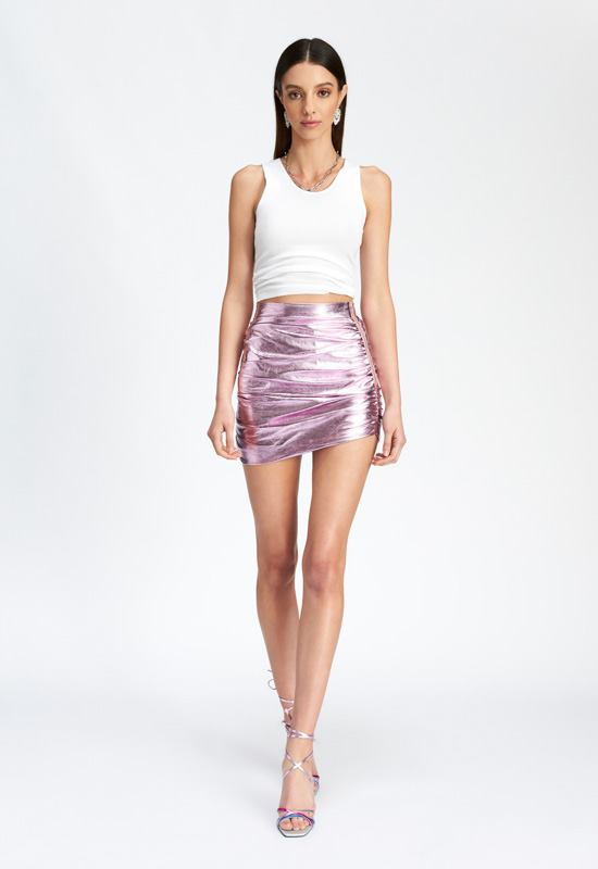 PRE-ORDER: The Glow Up Mini Skirt - PINK - Lioness