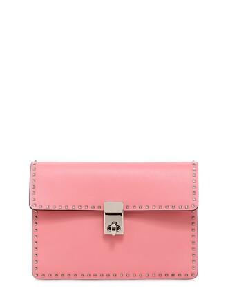 mini studded bag shoulder bag leather pink