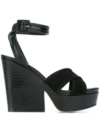 ankle strap sandals platform sandals black shoes