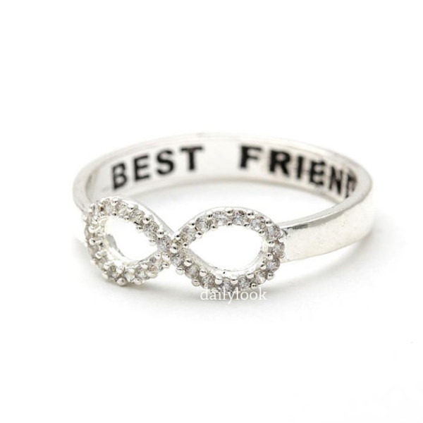 best friends ring s infinity ring engraved ring