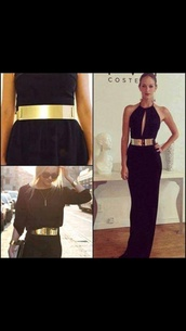 belt,gold bar,metal gold waist belt,dress