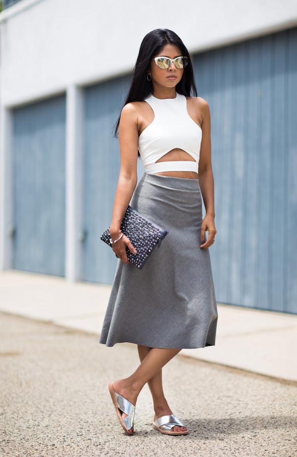 walk in wonderland top skirt shoes jewels bag sunglasses