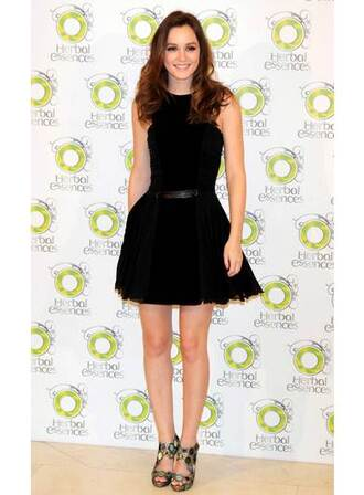 mini leighton meester gossip girl blair black dress dress