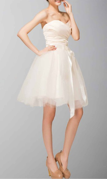 beige dress homecoming dress princess dress short prom gown graduation dresses tulle dress ruched dress sweetheart dresses
